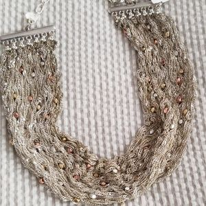 NWT Nakamol for Anthro silver mesh choker